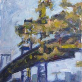 El puente de Brooklyn 2007. Acrílico sobre lienzo 60 x 50 cm