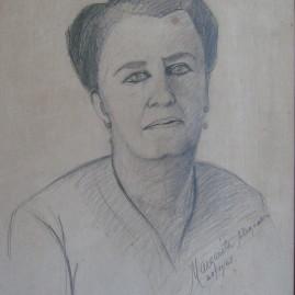 Latife 1968. Lápiz sobre papel 43 x 33 cm