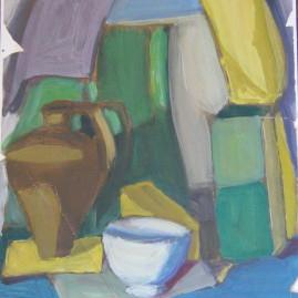 Estudio, 1965. Óleo sobre papel, 32 x 25 cm