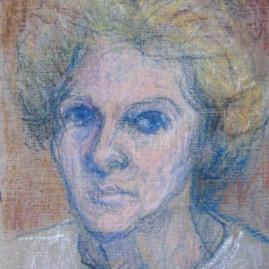 Autorretrato III, 1976. Pastel sobre cartón entelado, 28,5 x 24,5 cm
