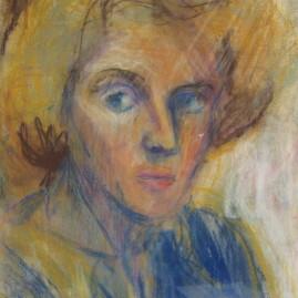 Autorretrato IV, 1978. Óleo pastel sobre cartón, 45 x 32 cm