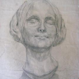 Soñadora 1944. Lápiz sobre papel 475 x 315 cm