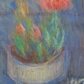 Malvón, 1994. Pastel sobre cartón entelado, 50 x 40 cm