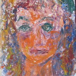 Adolescente, 2003. Acrílico sobre cartón, 30 x 22 cm