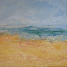 Mar, 1994. Óleo sobre cartón, 20,5 x 26 cm