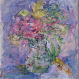 Fresias, 1994. Acrílico sobre tabla, 37 x 25 cm