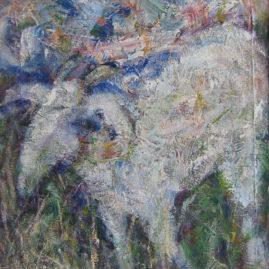 La cabra, 1990. Acrílico sobre lienzo, 75 x 60 cm