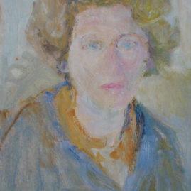 Autorretrato, 1975. Óleo sobre tabla, 50 x 35 cm.
