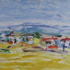 Playa, 1996. Óleo sobre lienzo, 30 x 40 cm