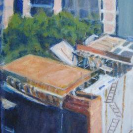 Construcción II, 2008. Acrílico sobre lienzo, 40 x 30 cm