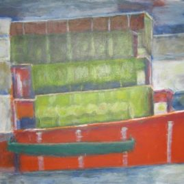Construcción IV, Acílico sobre lienzo 50 x 70 cm
