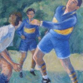 Cabeceando, 1996. Acrílico sobre lienzo, 80 x 60 cm