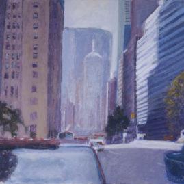 Calle de Nueva York Acrílico sobre lienzo 60 x 80 cm