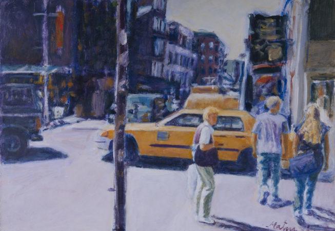 Caminando por Nueva York, 2008. Acrílico sobre lienzo, 50 x 70 cm