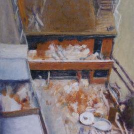 Deconstrucción, 2009, Acrilico sobre tela, 60x 80cm