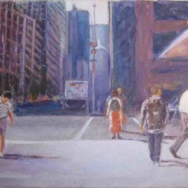 Mediodía en Nueva York, 2008. Acrílico sobre lienzo, 50 x 70 cm-2